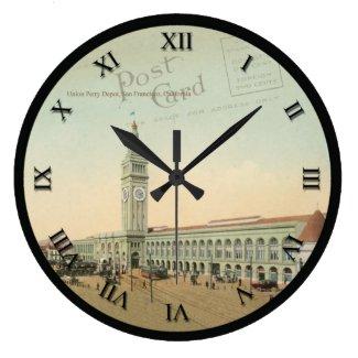 Post Card Clock - Union Perry Depot San Francisco