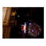 Post Card: Dayton Fireworks (Red, White, & Blue)