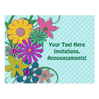 Post Card - Flowers - Bright & Fun Postcards