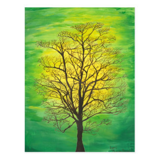 Post Card - Green Tree
