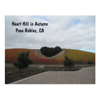 Post Card: Heart Hill in Autumn, Paso Robles Postcard