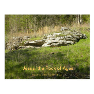 Post Card Jesus is the Rock of Ages