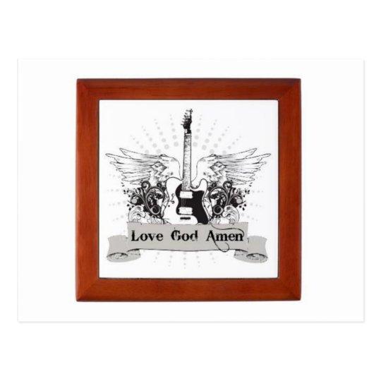 post card love god amen