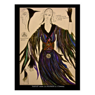 Post card of MADGE costume, LA SYLPHIDE