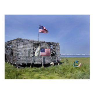 """Post card of """"The Shack""""  of Long Beach Island"""