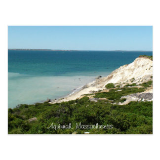 Post Card of view from Lighthouse in  Aquinnah, Ma