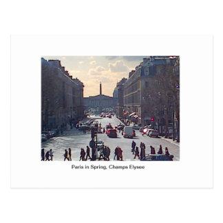Post Card, Paris in Spring, Champs Elysee Postcard