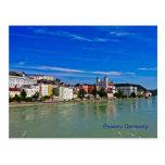 post card Passau, bavaria, germany,