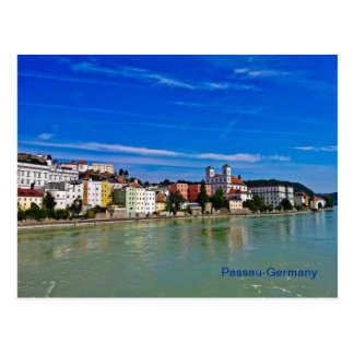 post card Passau, bavaria, germany,