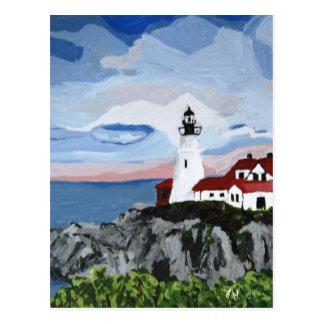 Post Card: Portland Head Light painting Postcard