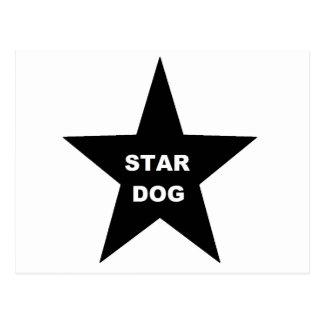 Post Card Star Dog on Black Star
