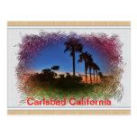 carlsbad, california, sunset, postcard,