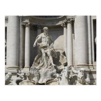 Post Card--Trevi Fountain Statue Postcard