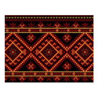 Post Card Ukrainian Cross Stitch Embroidery