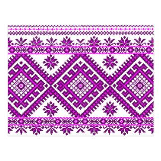 Post Card Ukrainian Embroidery Graphic Print