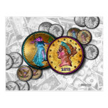 POST CARDS - Big Coin Pop Art