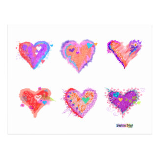 Post Cards - Crazy Hearts 2