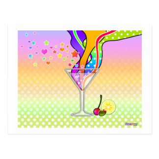 Post Cards - Maxxed Pop Art Martini