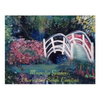 Post Cards with Beautiful Scenery Flowers Bridge