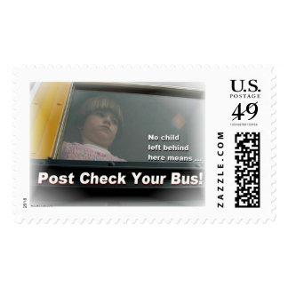 Post Check School Bus Postage