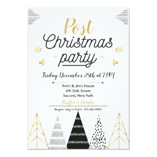Post Christmas Party Invitation