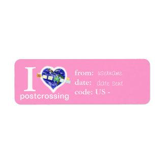 Post-crossing fun name label