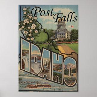 Post Falls, Idaho - Large Letter Scenes Print