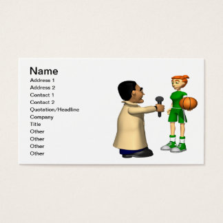 Post Game Interview Business Card