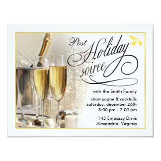"Post-Holiday Party - Holiday Party Invitations 4.25"" X 5.5"" Invitation Card"