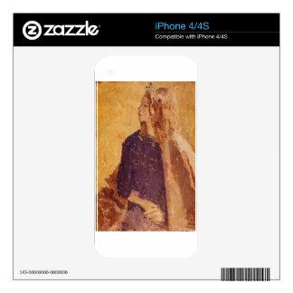 Post-Impressionism Art Girl in Profile - Gwen John iPhone 4 Skin