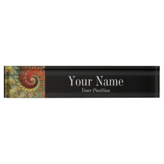 """Post-Impressionism"" Personalized Desk Nameplate"