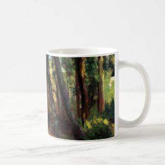 Post impressionist art Pissarro small bridge Mugs