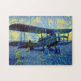 Post Impressionist Biplane Jigsaw Puzzle