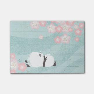 Post-it de la panda del zen (flores del ciruelo) notas post-it