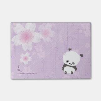 Post-it de la panda del zen (Sakura) Post-it Notas
