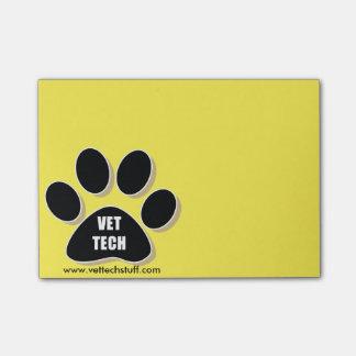 ¡post-it de la tecnología del veterinario! notas post-it