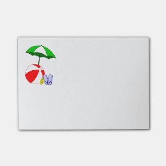 Post-it del paraguas de la piscina de la pelota de post-it® nota