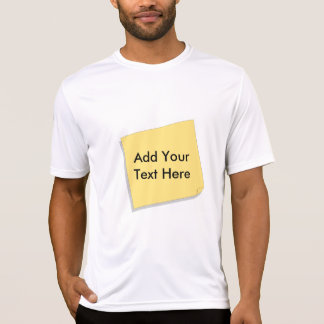 Post It Note Add Your Own Text Shirt