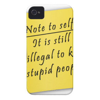 Post it-Note to self Case-Mate iPhone 4 Cases