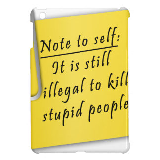 Post it-Note to self iPad Mini Cover