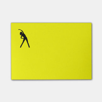Post It Note with Stretching Lady
