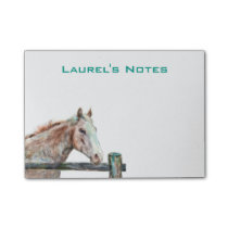 Post it Notes with Painted Horse