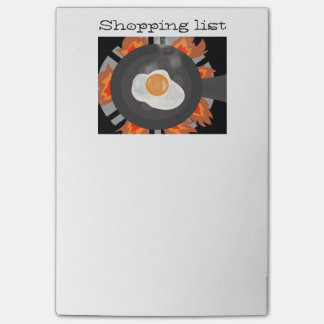 Post it notes with shopping list