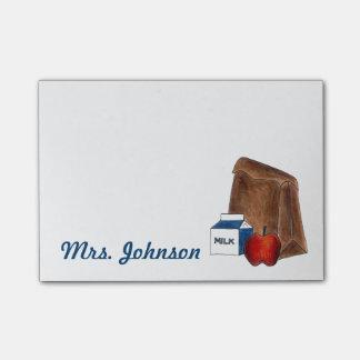 Post-it personalizado del profesor del bolso del notas post-it®