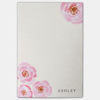 Post-it rosado de la impresión del rosa nota post-it®