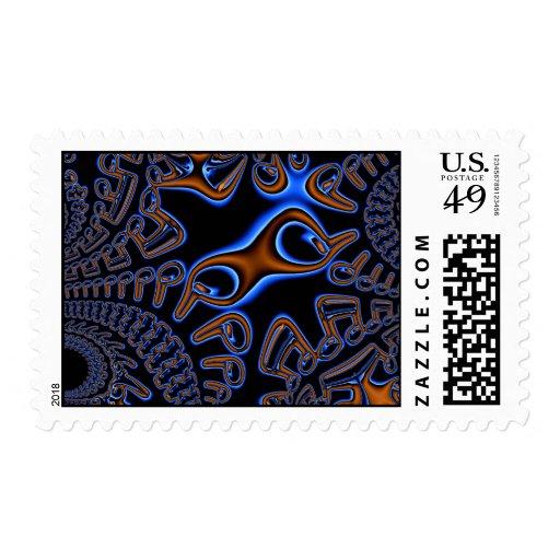 Post-it ruidosamente timbres postales