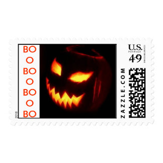Post it with Halloween BOO stamp