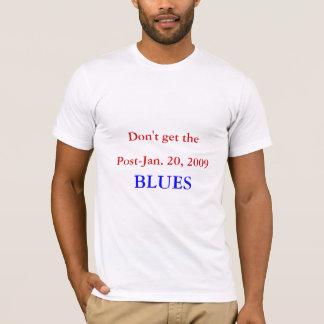 Post-Jan. 20, 2009, BLUES Men's White X-LARGE T-Shirt