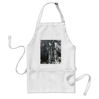 Post modern distressed plastic effect in grey adult apron
