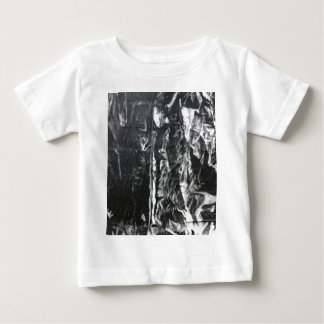 Post modern distressed plastic effect in grey baby T-Shirt